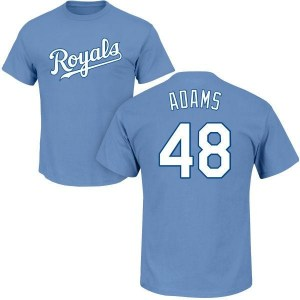 Chance Adams Kansas City Royals Youth Light Blue Roster Name & Number T-Shirt -