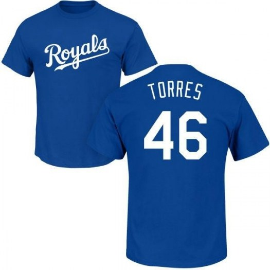 Ramon Torres Kansas City Royals Youth Royal Roster Name & Number T-Shirt -